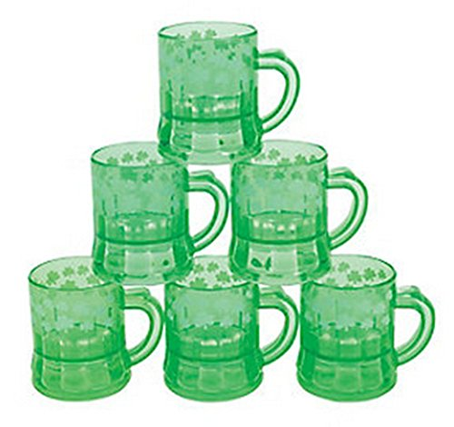 - Mini Plastic Shamrock Mugs (1 Dozen)