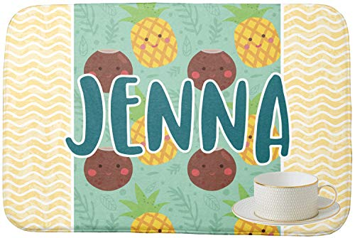 - Pineapples and Coconuts Dish Drying Mat (Personalized)