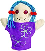 "Colorations CANPUP Set of 12 Kids Decorate Your Own Canvas Hand Puppets, 9-1/7""H each, for All About Me,"