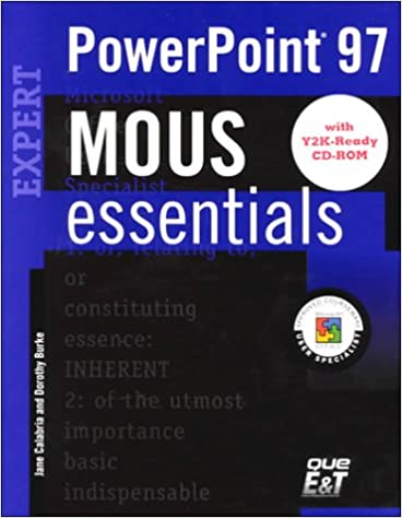 Mous Essentials Powerpoint 97 Expert Y2k Ready