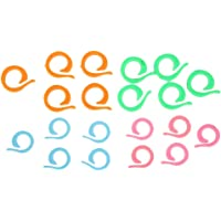 Ruiting 20pcs Assorted Knitting Marker Practical Locking Stitch Rings Replacement Stitch Crochet Rings