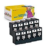 New York TonerTM New Compatible 10 Pack 18C2170 (#36) High Yield Inkjet For Lexmark X3650 | Lexmark X4650 | Lexmark X5650 | Lexmark X6650 | Lexmark X6675 Professional | Lexmark Z2420 . -- Black