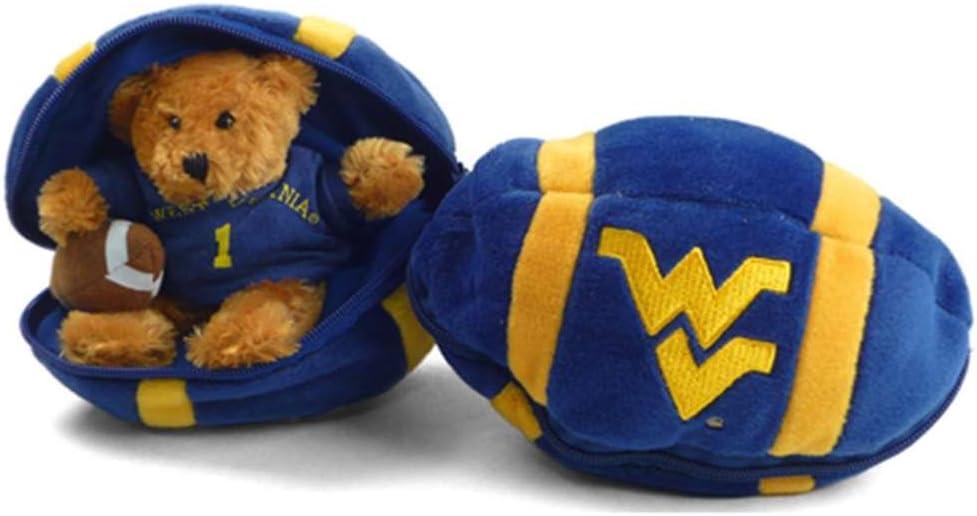 West Virginia Mountaineers Hidden Plush Bear Football Toy