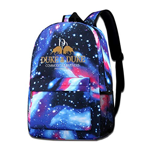 Simonay Trading Places Duke and Duke Backpack, Fashion Casual Star Backpack, Durable All-Purpose Shoulder Bag.