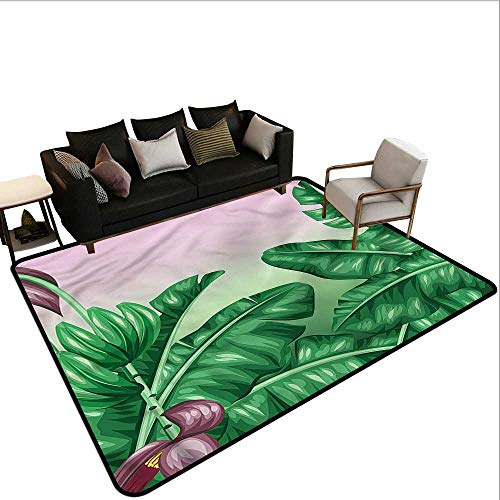 "Botany,Office Chair Floor Mat Foot Pad 48""x 72"" Exotic Orchid Blooms Throw Rugs"
