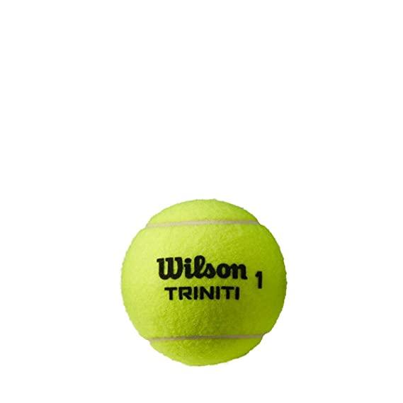 Wilson Pelotas de tenis, Triniti, Juego de 4 pelotas, Funda ...