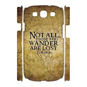 3D Samsung Galaxy S3 Case not all Those Who Wander are Lost the Hobbit, the Hobbit [White]
