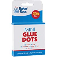 Baker Ross Mini Glue Dots (Pack of 300) 6mm Glue Dots for Kids Arts and Crafts