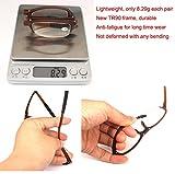 SOOLALA Compact Mini TR90 Pocket Folding Reading Glasses with Clip Holder Zipper Case