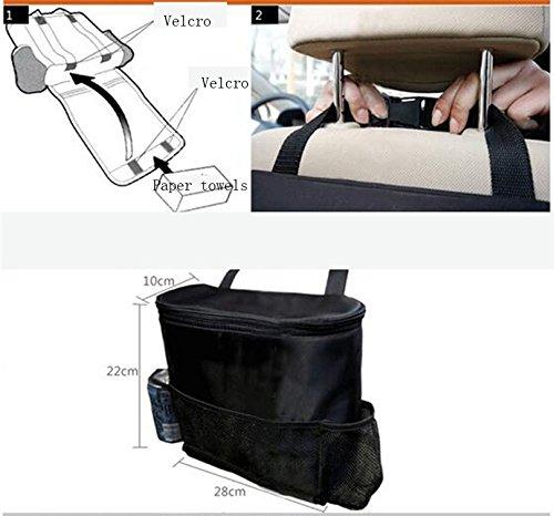 Kfnire Sacchetto di immagazzinaggio di viaggio multi-tasca organizzatore del seggiolino dellautomobile del sacchetto posteriore dellautomobile isolato