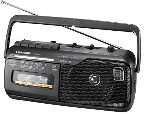 Panasonic RX-M40DE-K Mono Radio Recorder met cassettedeck, net- of batterijvoeding zwart