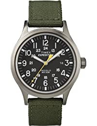 Timex Men's T49961GP Expedition Scout Metal Black Dial and Green Nylon Strap