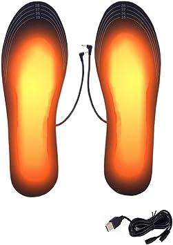 USB Elektrisch Beheizt Einlegesohle Winter Wärmer Heizung Carbon Faser Füße Pads