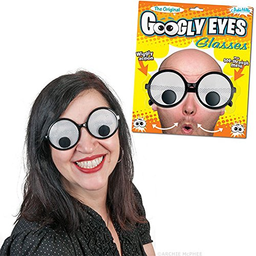 Giant Googly Wiggly Eyes See Through Mesh Novelty - Through Eyes See Sunglasses
