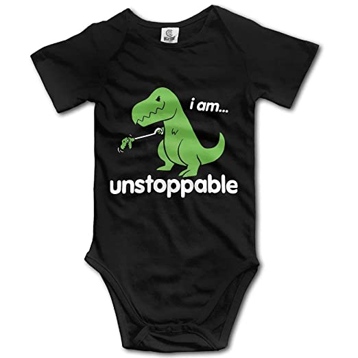 3906392faa Amazon.com  Dinosaur Unstoppable Cute Baby Onesie Bodysuit Outfits  Clothing