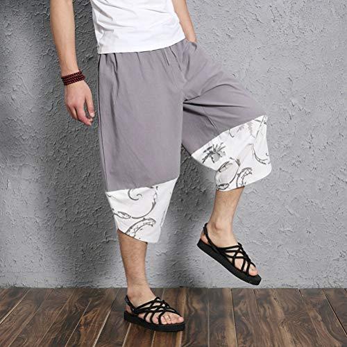 Lino Traspiranti Pantaloni Beach Festivo Da Signore Estate Pants Grigio Allentati Aladdin Casual Di Delle Harem Uomo Abbigliamento E8qwd77