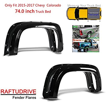 """For 2015-2018 Chevy Colorado 74/"""" Bed New Pocket Style Bolt Riveted Fender Flares"""
