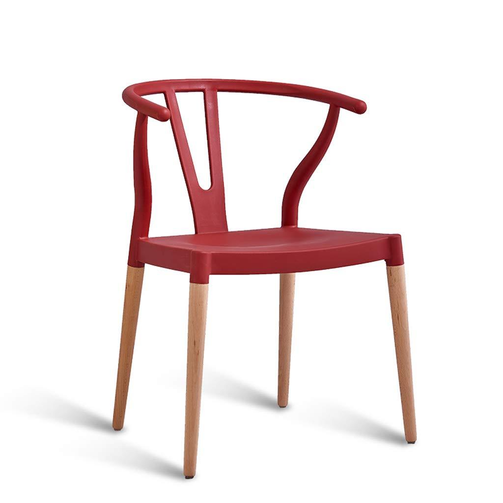 家庭用シート 木製ダイニングチェア、モダンなミニマリストのホームバーの椅子プラスチックラウンジチェアバックレストレセプションチェアホワイトブラック、キッチン、レストラン、カフェ、バー用 (色 : D) B07S6B7Q9Q D