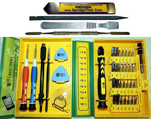 42 Piece Ultra Electronic Tool Set w/ Uber Thin Pry Tool: 28 Bit Screwdriver Kit + Spudgers, Tweezers, Suction Cup & More, DIY iPhone Macbook Air & Pro, Mini/Micro Phillips Torx Pentalobe Y Hex (Game Boy Advance Kit compare prices)