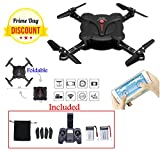 Mini Drone with Camera and Live Video transmission; 2.4GHz 4CH 6-Axis Gyro RC Mini quadcopter with Headless mode, Altitude Hold, gravity sensor, 1 key return; Includes Remote Control and 2 Batteries