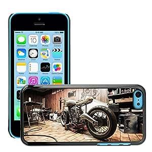 Etui Housse Coque de Protection Cover Rigide pour // M00171281 Moto Reparaciones Garaje Hobby // Apple iPhone 5C