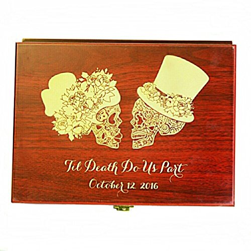 Sugar Skull wedding set, Champagne flutes, Wedding flutes, Toasting flutes, Sugar skull, Day of the dead, Dia de los muertos, Skull wedding