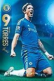 England Chelsea Fernando Torres (2012-2013 Season) Football Soccer Sports Fan Poster Print 24x36