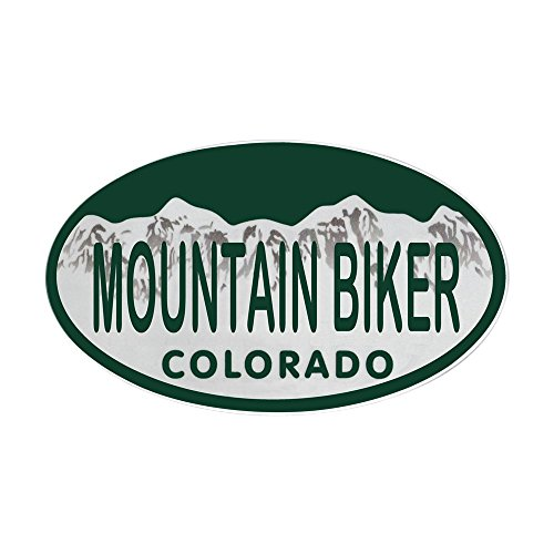 CafePress Mountan Biker Colo License Plate Sticker (Oval) Oval Bumper Sticker, Euro Oval Car - Bmx Frame Decal
