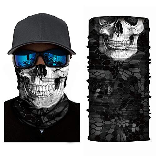 Face Mask,Skeleton Skull Flag Seamless Bandana,fishing mask,Casual Balaclava Headwear,Thin Ski Mask-Wind/Sun/UV Protection-for Cycling,Motorcycling,Fishing,Hunting,Hiking,Yard working (Skull 1)
