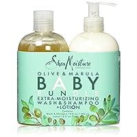 Shea Moisture Olive & Marula Baby Bundle Extra Moisturizing Wash And Shampoo ...