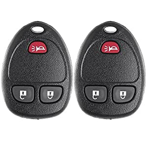 Scitoo 2X Keyless Entry Remote Key Fob Clicker Control Beeper 3 Buttons Replacement for Chevy Saturn GMC Pontiac Buick Cadillac Suzuki Series OUC60270