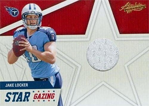 Jake Locker player worn jersey patch football card (Tennessee ...