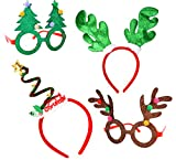 Toys : Joyin Toy Christmas & Holiday Party 4 pack with two Fancy Headband and Two Beautiful Party Glasses-Funny Party Hats-Fit All
