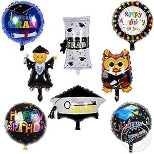 Alaska2You 8pcs congrats grad foil balloons Graduation Ceremony birthday Party Decorations helium ballons globos diploma balloon