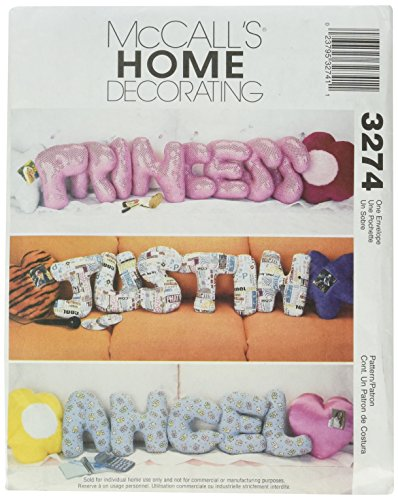 McCall's Patterns M3274 Novelty Pillows, One Size Only