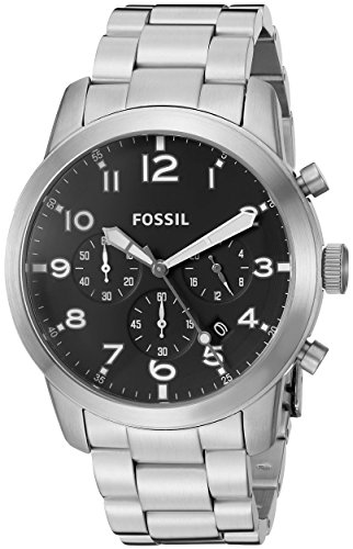 (Fossil Men's FS5141 Pilot 54 Chronograph Stainless Steel Watch)