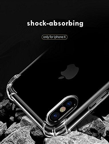 [2 PACK] Para iPhone 7 Plus / 8 Plus Funda, tecnología de amortiguación parachoques Funda de TPU suave para iPhone 7 Plus (2016) / iPhone 8 Plus (2017) - Crystal Clear (para iphone x)