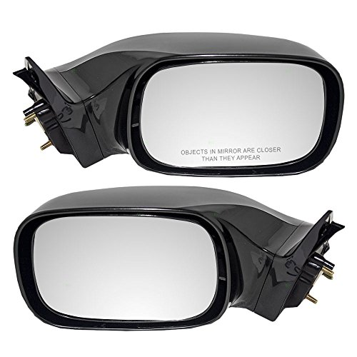 Pair Set Power Side View Mirrors Heated w/o Signal Ready-to-Paint Replacement for 05-10 Toyota Avalon 87940-AC906 87910-AC904 AutoAndArt