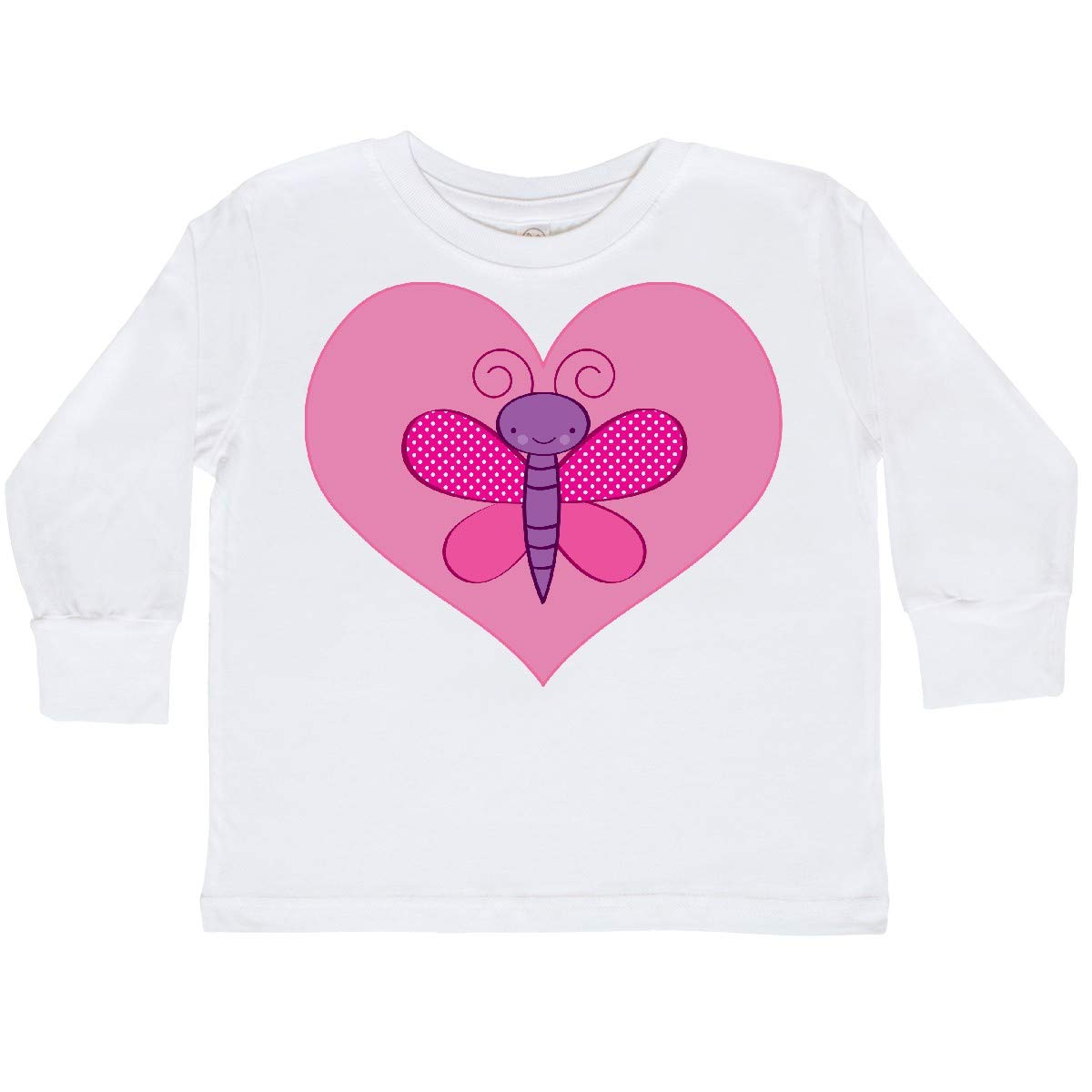 inktastic Valentine Butterfly Toddler Long Sleeve T-Shirt
