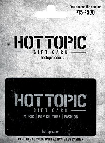 image about Hot Topic Printable Coupon known as Sizzling Issue Present Card