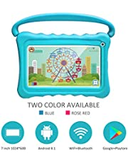 Kids Tablet 7 Toddler Tablet for Kids Edition Tablet with WiFi Camera Children's Tablets Android 9.0 Parental Control with Shockproof Case 1GB + 16GB (Blue)