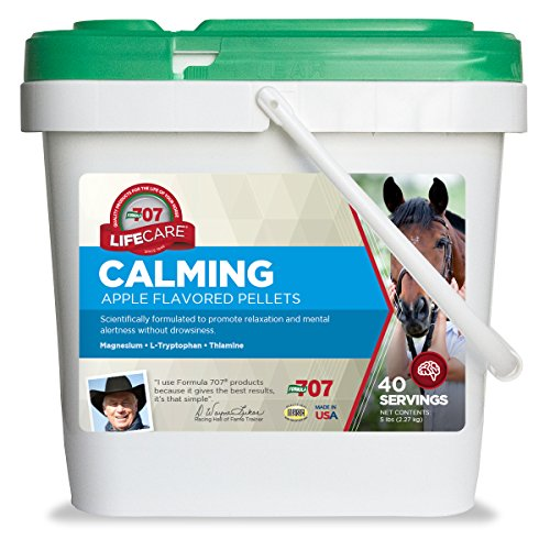 - Formula 707 Calming Equine Supplement, 5lb Bucket - L-Tryptophan, Thiamine & Magnesium Provide Support to Improve Focus in Horses