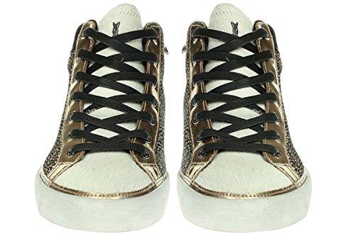 CRIME London 25025A16B - Damen Schuhe Sneaker Schnürer - Beige
