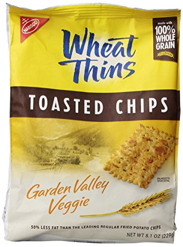 Wheat Thins Whole Grain Toasted Chip - Garden Valley Veggie - 8.10 Ounces