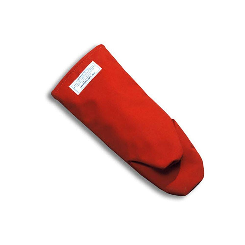 Medium Puppet-Style Oven Mitt Red Tucker Safety 55120 Products Tucker BurnGuard Protective Apparel 12 Poly-Cotton Each