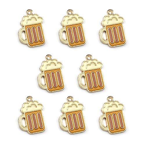 (M314-E 8pcs Cute Little Beer Cup Bracelet Charms Pendants Wholesale)