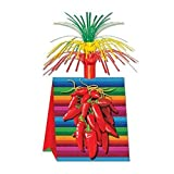 Club Pack of 12 Multi-Colored Mexican Fiesta Chili Pepper Centerpiece Party Decorations 15''