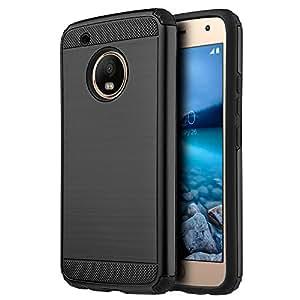 Dream Wireless Funda Case para Motorola Moto G5, Doble Protector Armor de Uso Rudo con Aspecto Metálico, color Negro