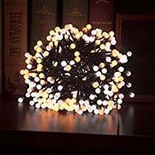 DIKLA String Lights, 10ft/3m 400 LEDs Waterproof Fairy Lights for Indoor, Outdoor,Christmas, Halloween, Wedding, Party Backdrops, Multicolor Warm White/Pink White (Warm White)