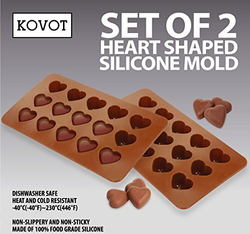 KOVOT Heart Shaped Silicone Molds